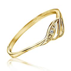 Inel de Logodna Solitaire Dama din Aur Galben 14kt cu un Briliant